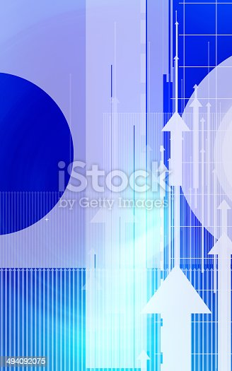 838721578 istock photo Abstract design with arrows and circles 494092075