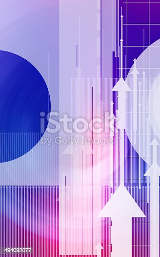 838721578 istock photo Abstract design with arrows and circles 494092077