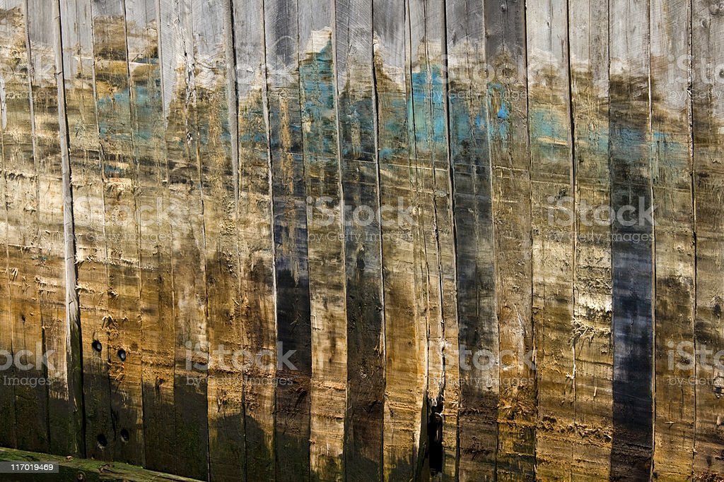 Abstract detail of an old wood pier royalty-free stock photo