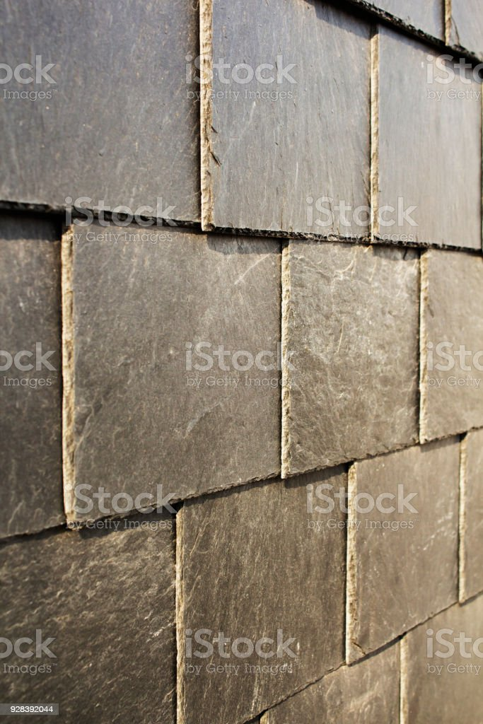 Abstract Detail Of Old Slate Roof Tiles Stock Photo & More Pictures of  Abstract