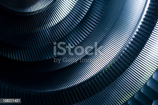 istock Abstract Detail of Round Metal Machinery 108221431