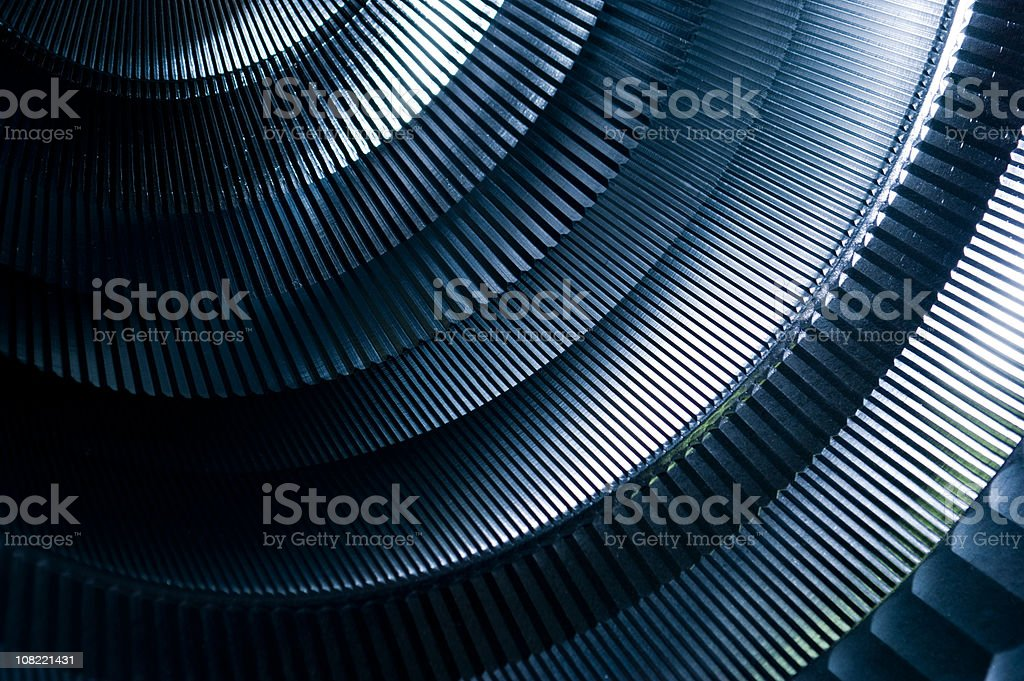 Abstract Detail of Round Metal Machinery stock photo