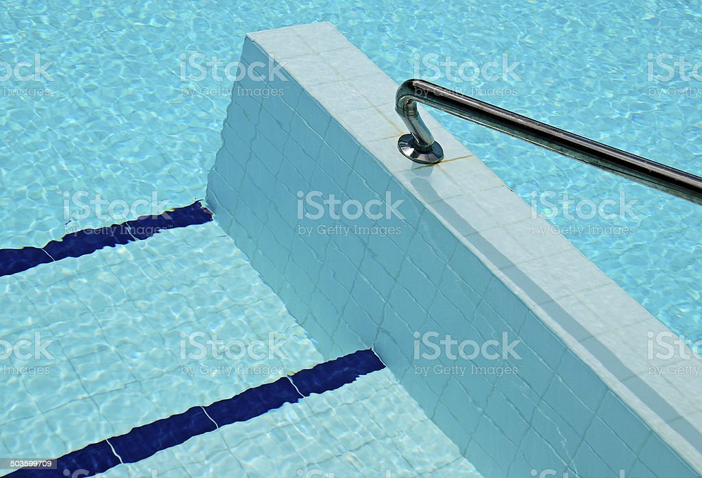 Abstract detail of swimming pool stock photo