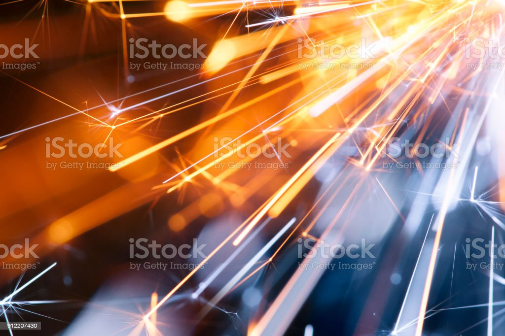 Abstract Diagonal Red Blue Sparks - Background Party New Year Celebration Technology stock photo