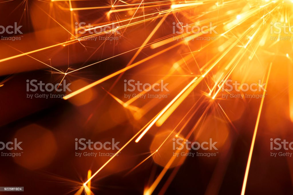 Abstract Diagonal Red Sparks - Sparkler Background Party New Year Celebration Technology stock photo