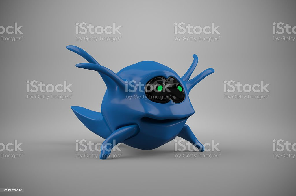 Abstract digital 3d monster character royalty-free stock photo
