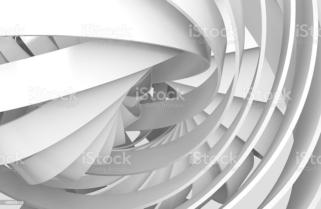 Abstract digital background, 3d spiral structures stock photo