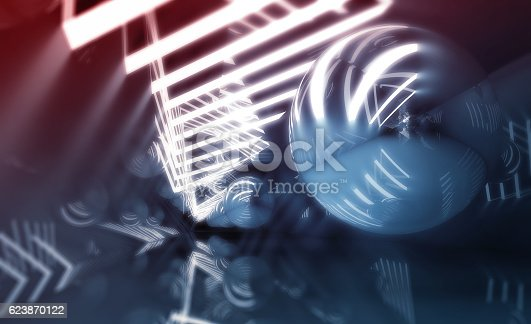 859156600 istock photo Abstract digital background, blue tunnel 623870122