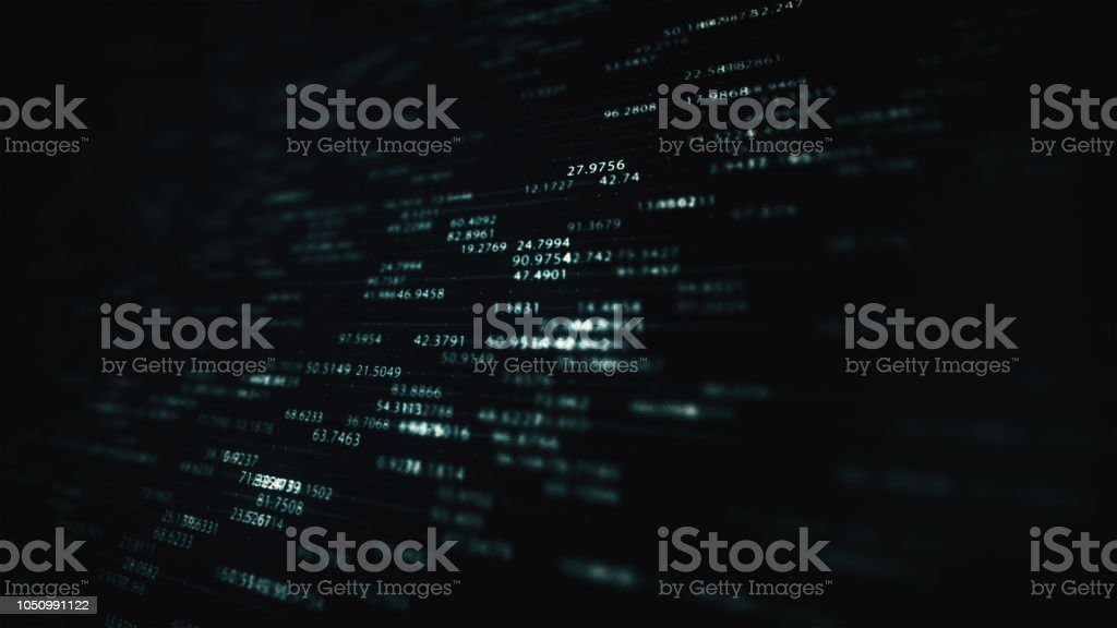 Números de abstrato digital - foto de acervo