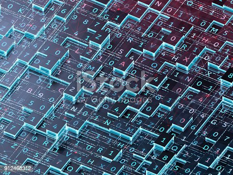 istock Abstract digital background. 912468312