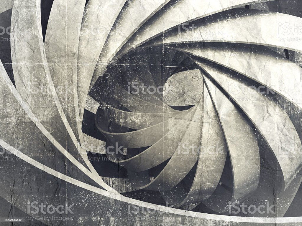 Abstract digital background with 3d spiral structure stock photo