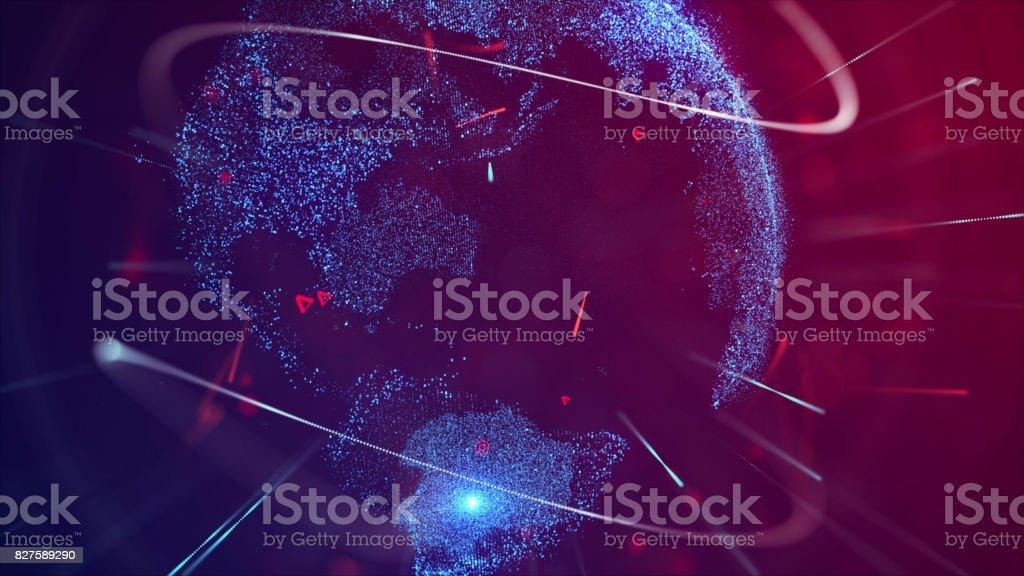 Abstract Digital Earth Globe stock photo