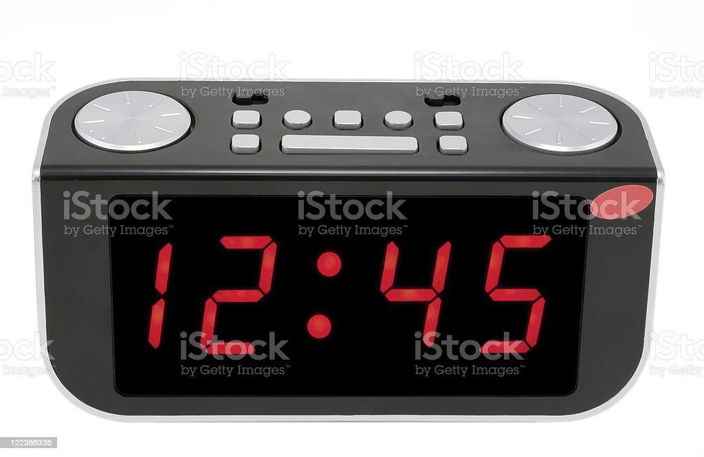 Abstract Digital electronic clock stock photo