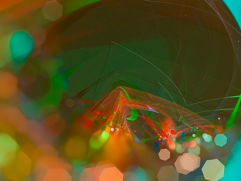 abstract digital fractal, futuristic design