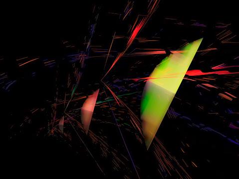 abstract digital fractal, futuristic design