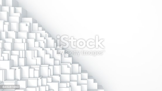 istock Abstract digital graphic cubes background 645081650