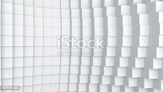 istock Abstract digital graphic cubes background 645081666