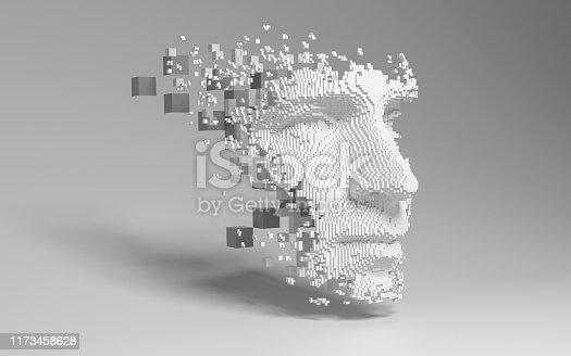 956891284 istock photo Abstract digital human face 1173458628