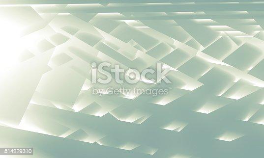istock Abstract digital illustration, geometric background 514229310