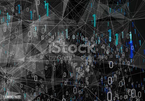 istock Abstract Digital network communication 1136907622