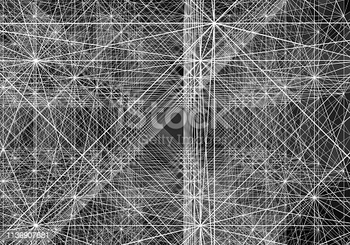 istock Abstract Digital network communication 1136907681