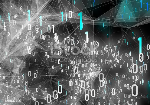 istock Abstract Digital network communication 1136907700