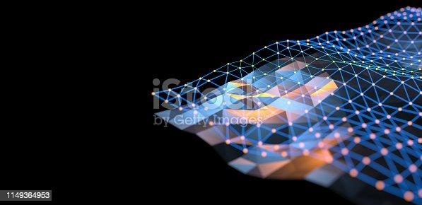 istock Abstract Digital network communication 1149364953