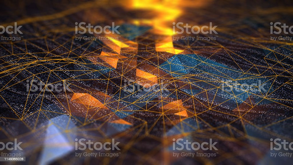 Abstract Digital network communication - Foto stock royalty-free di Astratto