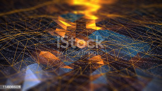 Abstract Digital network communication digital concept
