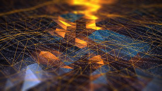 Abstract Digital Network Communication - Fotografie stock e altre immagini di Astratto