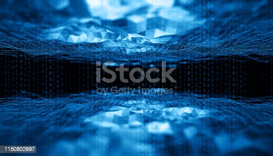 908866958 istock photo Abstract Digital network communication 1150802697