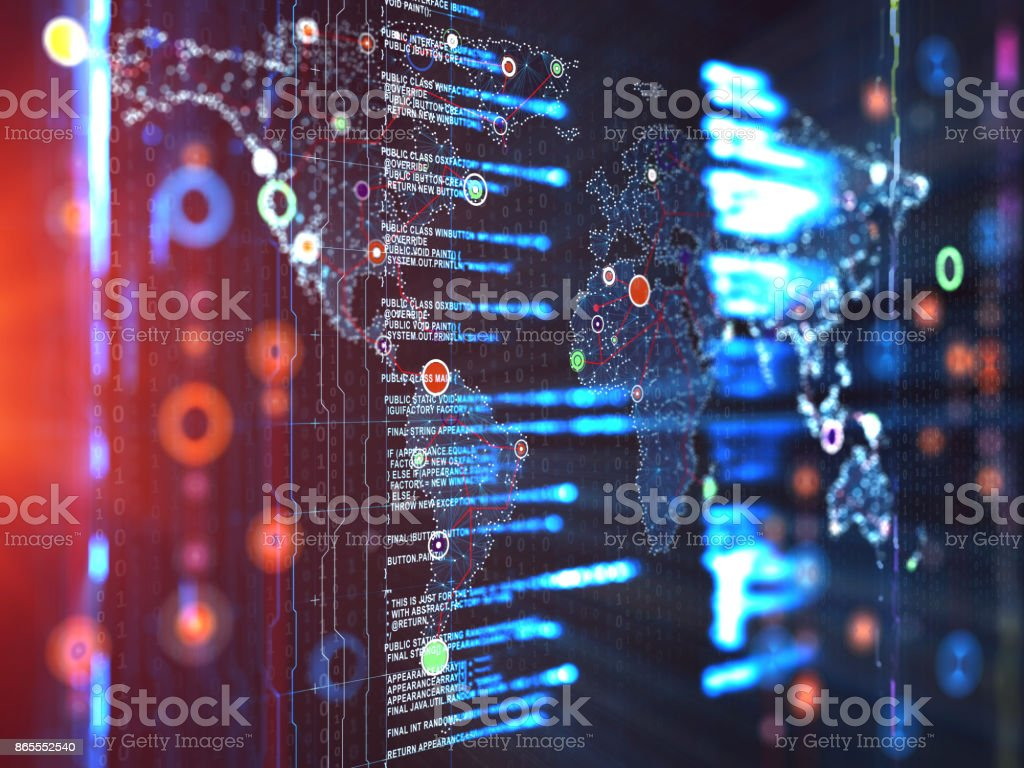 Abstract Digital network communication stock photo