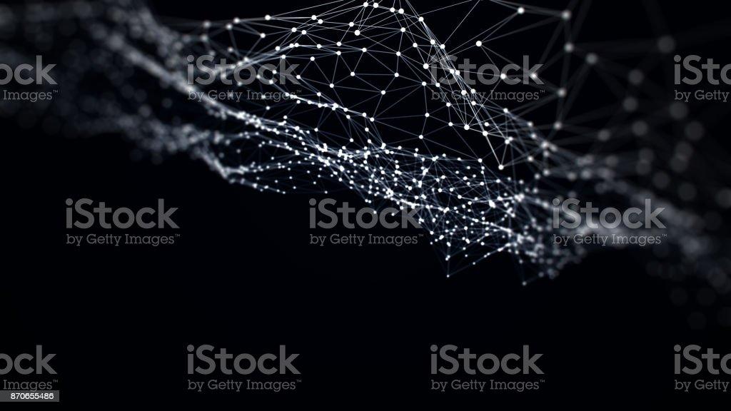 Abstract Red Digital de comunicación - foto de stock