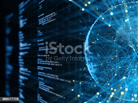 istock Abstract Digital network communication 888477728