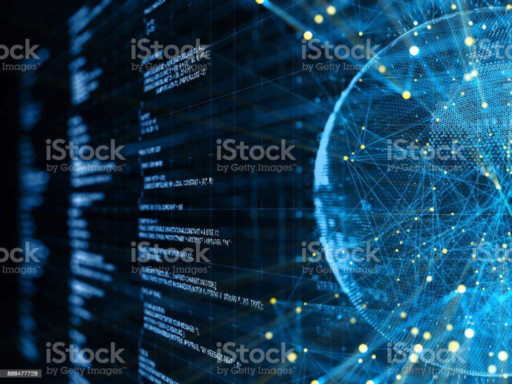 Abstract Digital network communication - foto stock