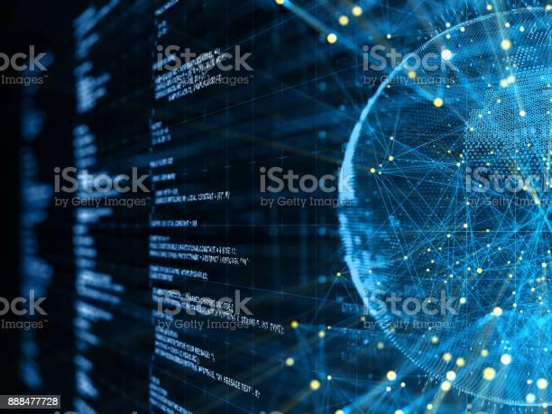 Abstrakte Digitale Netzwerk Und Kommunikation Stockfoto und mehr Bilder von Big Data