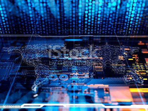 istock Abstract Digital network communication 907304468