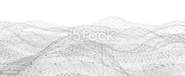istock Abstract Digital network communication 943566692