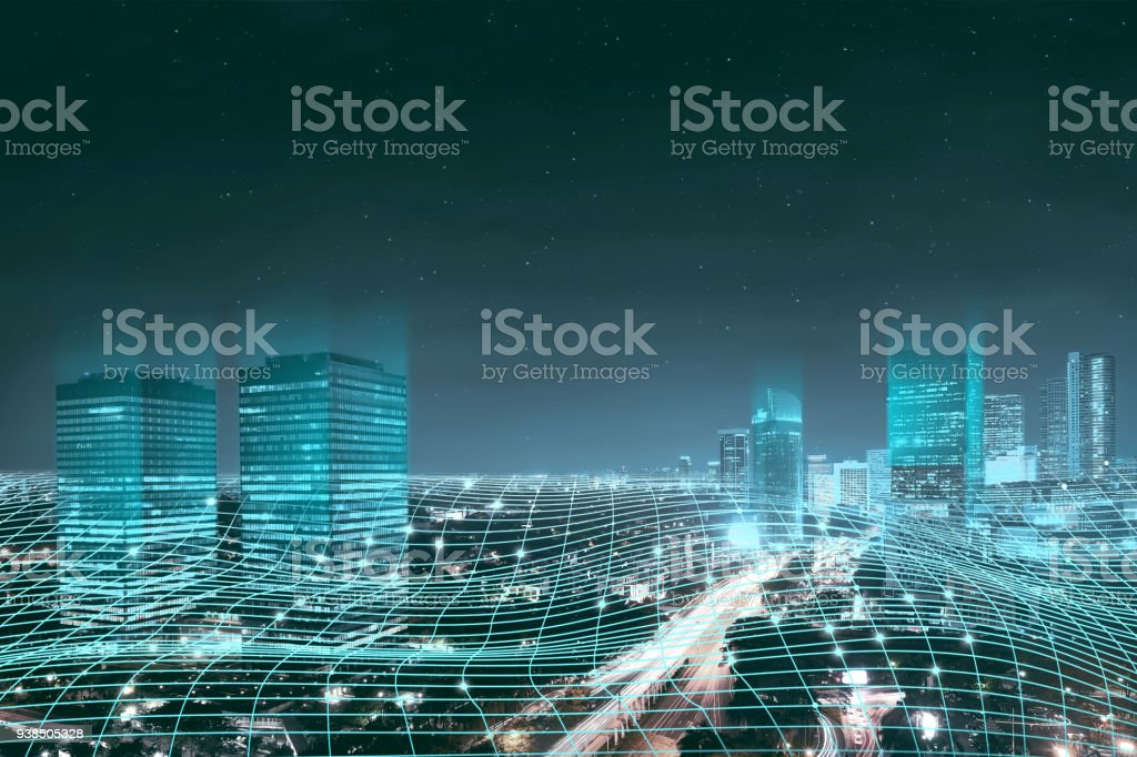 Abstract digital network connection stock photo