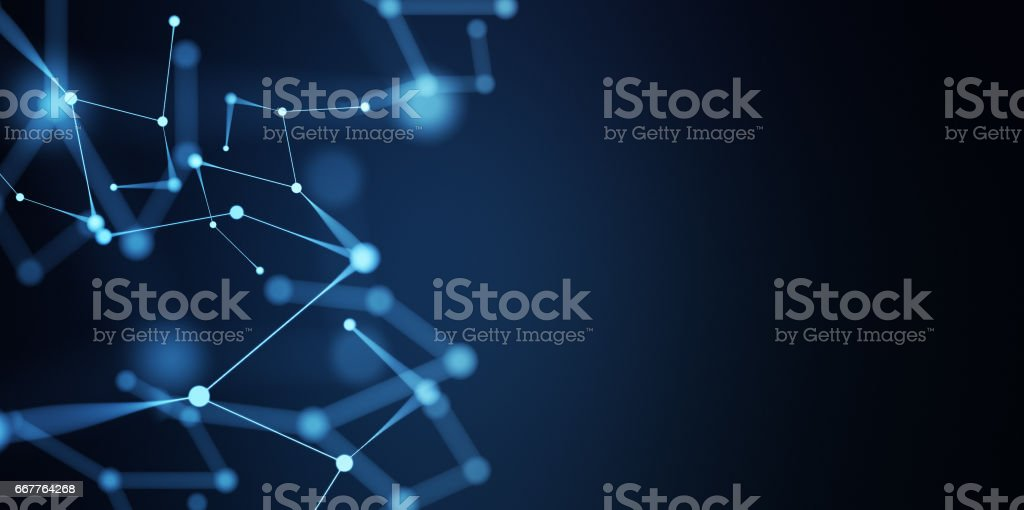 Abstract Digital Network Connections stock photo
