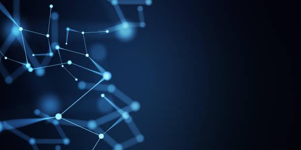 Abstrakte digitale Netzwerk-Verbindungen – Foto