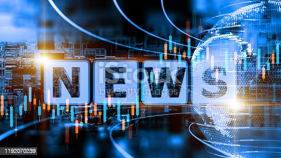 Digital background depicting innovative technologies, Internet technologies Digital News and media