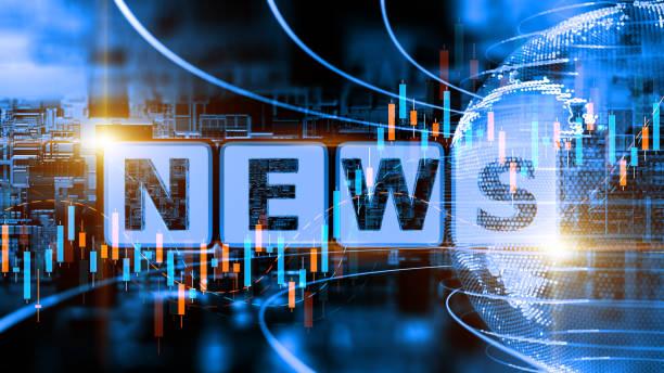 abstraktes digitales news-konzept - news stock-fotos und bilder