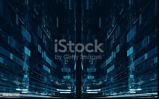 istock Abstract digital science fiction futuristic background 998461702