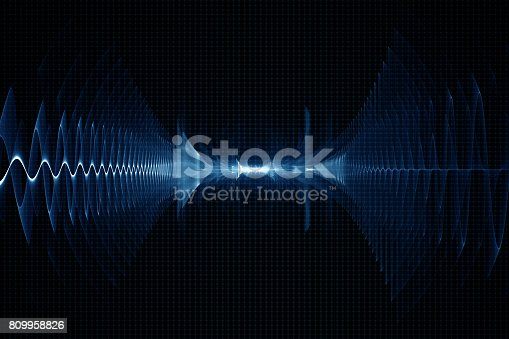 istock Abstract digital sound background - oscilloscope 809958826