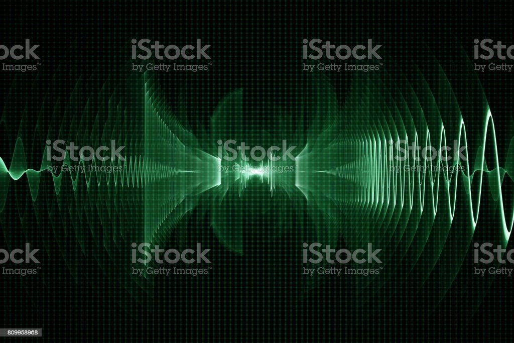 Abstract digital sound background - oscilloscope stock photo