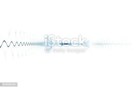 istock Abstract digital sound background - oscilloscope 809986084