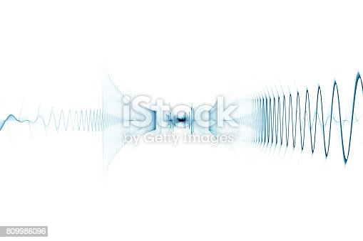 istock Abstract digital sound background - oscilloscope 809986096
