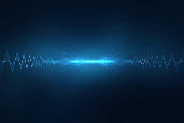 Abstract digital sound wave background stock photo