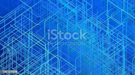 istock Abstract digital technology background 1082075328